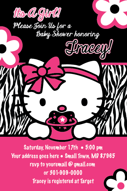 hello kitty baby shower invitations baby shower hello kitty