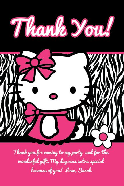 Hello Kitty Zebra Birthday Party Quotes