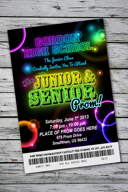Glow In The Dark Party Invitation with perfect invitations sample