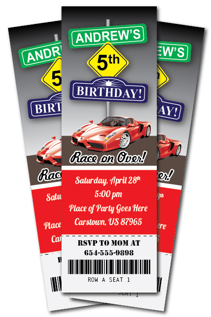 th birthday ideas free race car birthday invitation templates, Birthday invitations